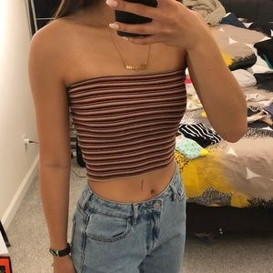 Brandy Melville Striped Tube Top